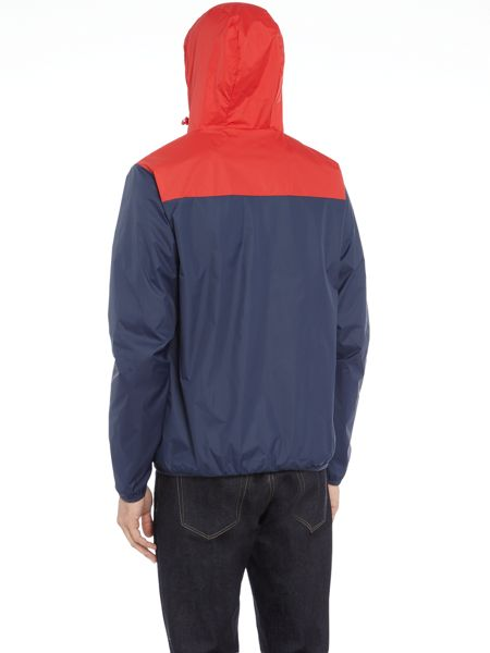 Ellesse Hooded tri-colour zip up waterproof jacket