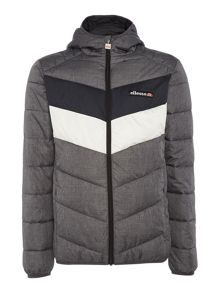 Ellesse Hooded panelled padded zip up jacket