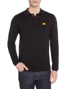 Ellesse Long sleeve knitted merino polo