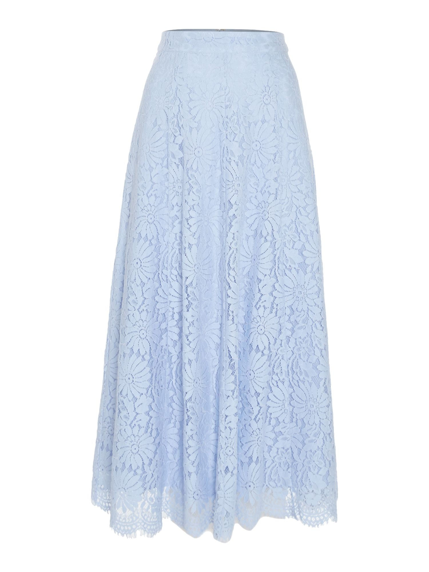 Ivy & Oak Lace a-line midi skirt, Blue