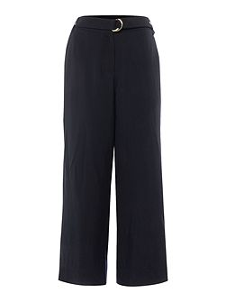 Soft culotte with waist tie