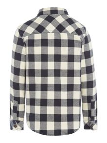 Benetton Boys Long Sleeve Brushed Check Shirt