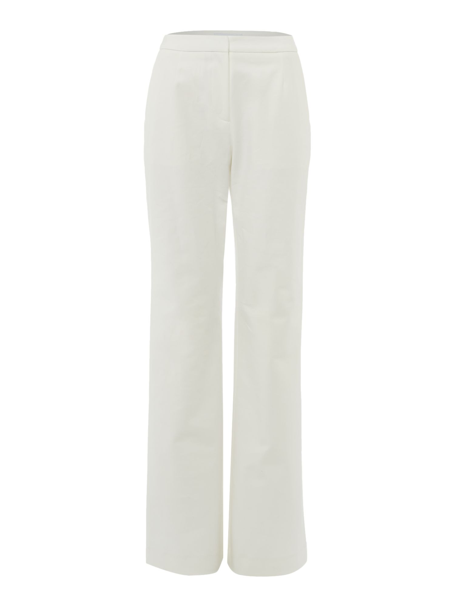 Ivy & Oak Classic wide leg trouser with flare, White