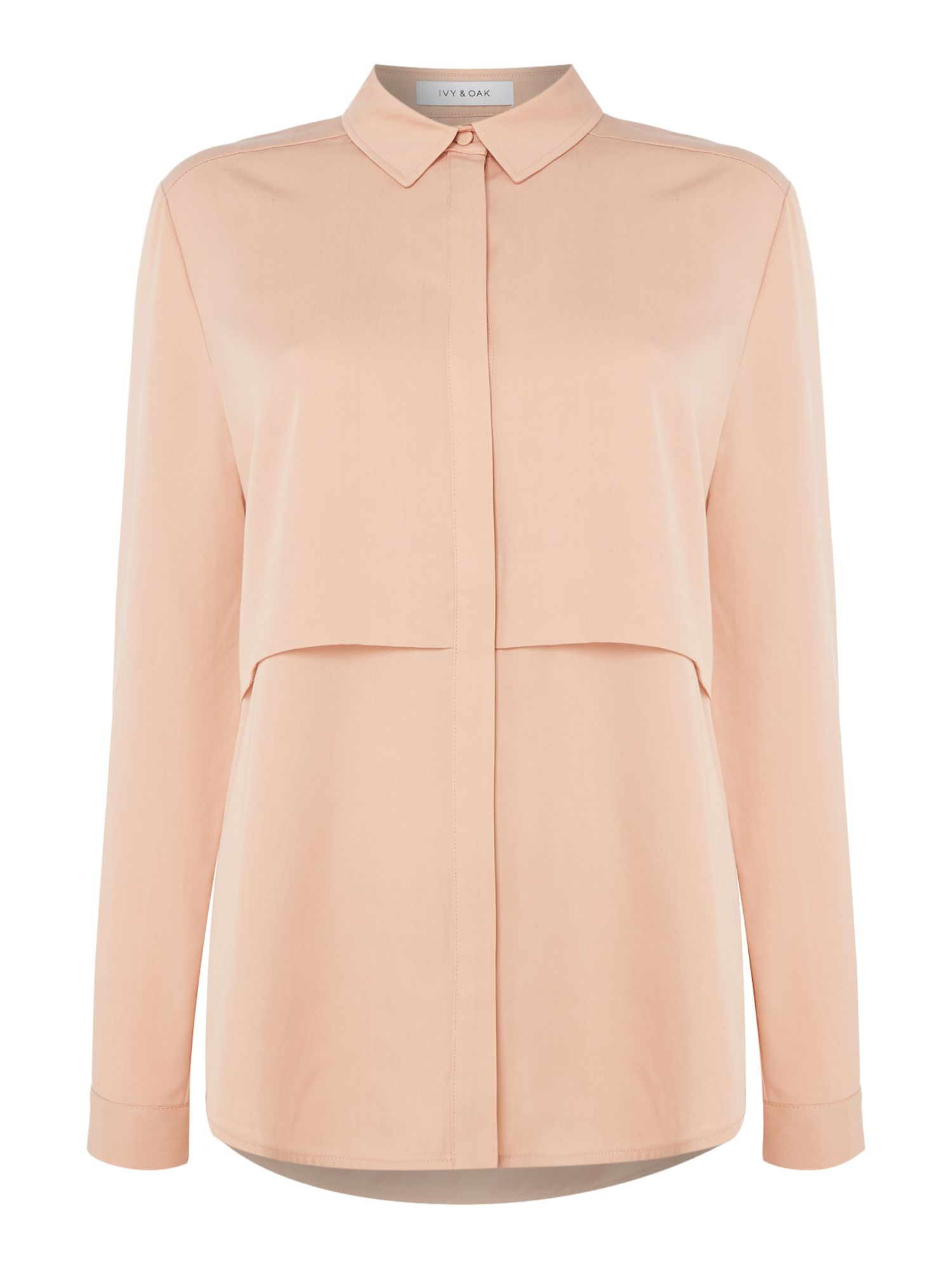 Ivy & Oak Longsleeve shirt blouse with layers, Pink