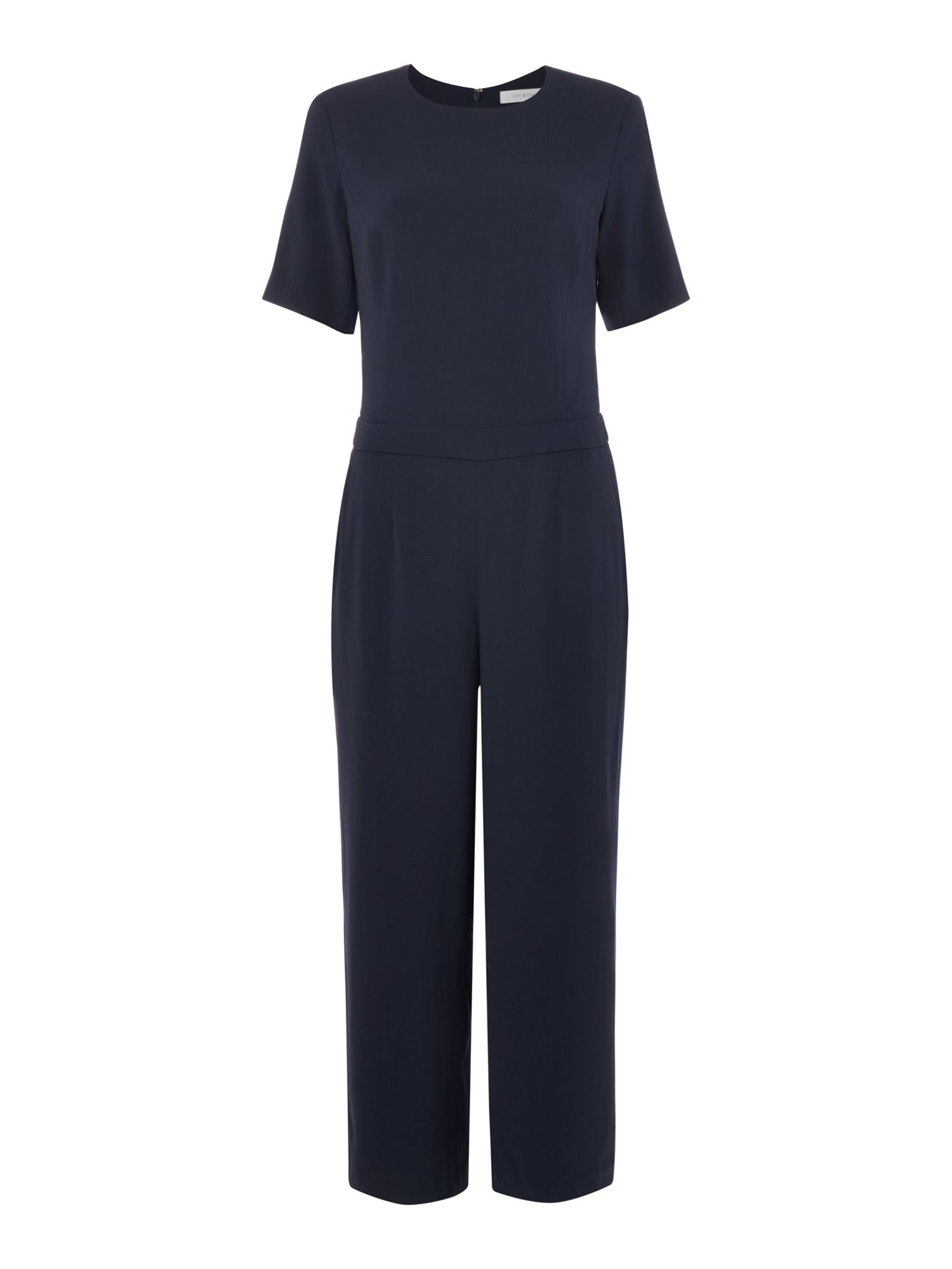 IVY & OAK Ivy & Oak Jumpsuit with 3/4 sleeves and culotte trousers, Midnight Blue
