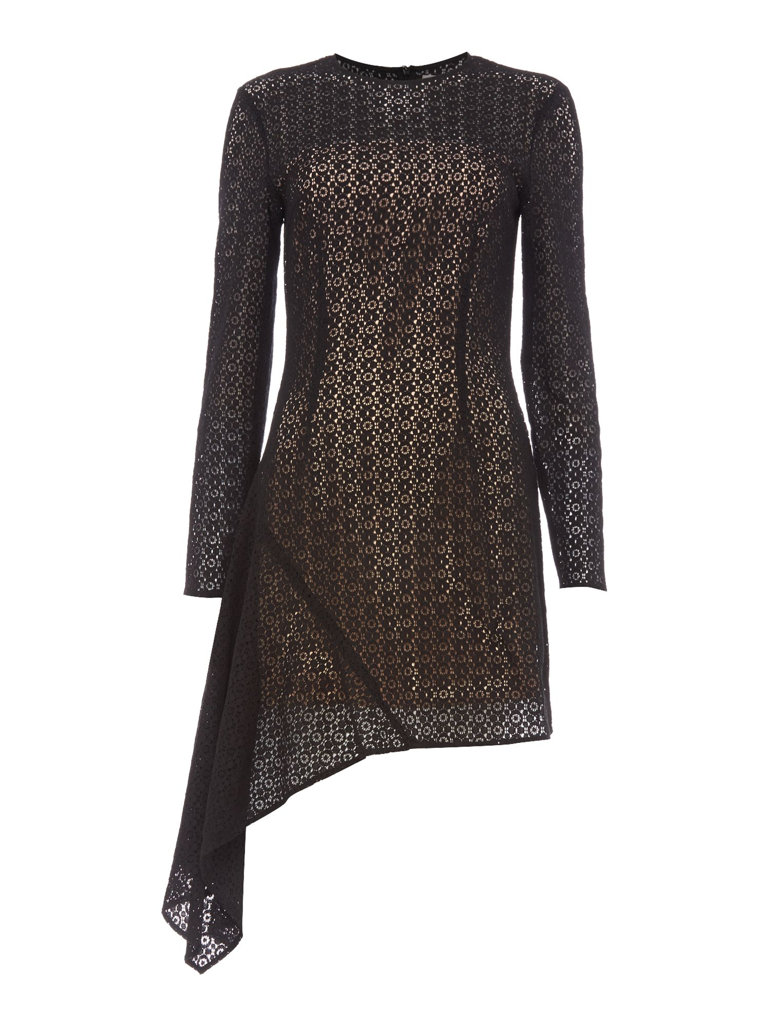 Keepsake Long Sleeve Lace Dress, Black