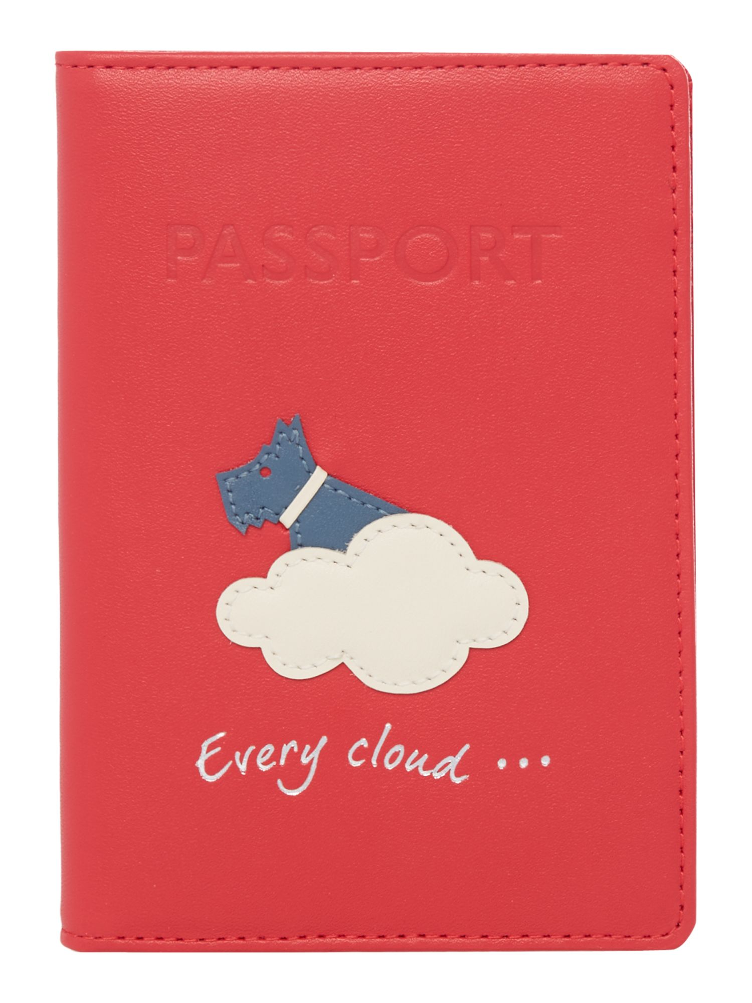Radley Silver lining passport cover Pink