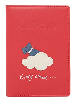 Silver lining passport cover