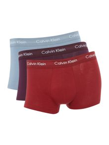 Calvin Klein 3 pack Low Rise Black Cotton Stretch Trunk