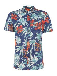 Howick Carnival Floral Print Short Sleeve Shirt