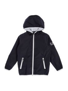 EA7 Junior Boys Hooded Windbreaker Jacket