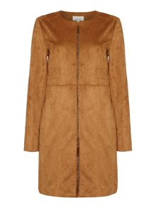 Linea SIENNA SUEDETTE EDGE TO EDGE COAT