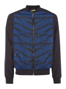 Versace Jeans Front panel print bomber jacket