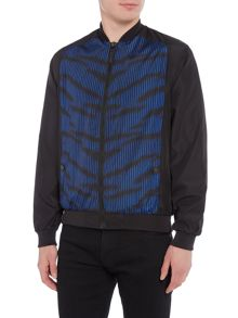 Versace Front panel print bomber jacket