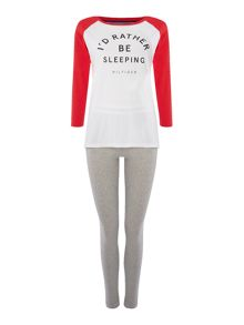 Tommy Hilfiger Cotton iconic 3/4 sleeve pyjama set