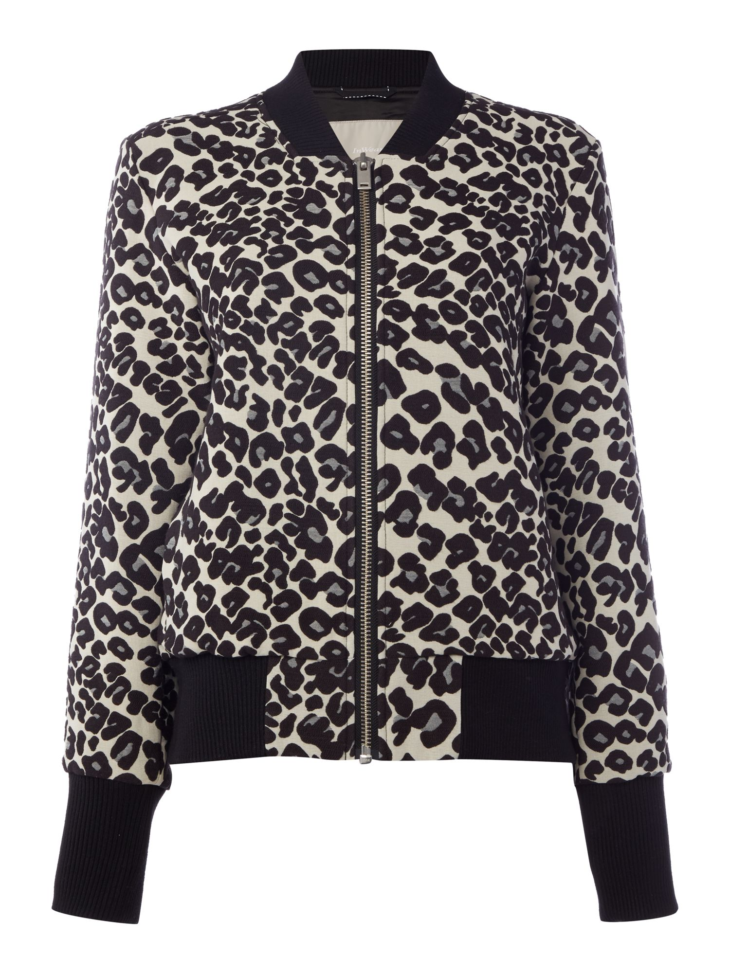 In Wear Animal print bomber jacket, Leopard