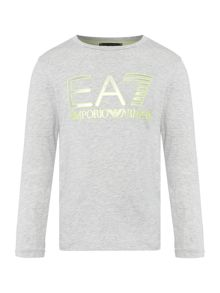 EA7 Junior Boys Large Logo Long Sleeve Tshirt