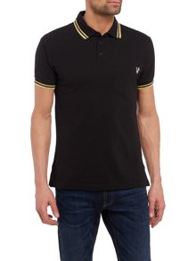 Versace Jeans Large embroidered back logo polo shirt