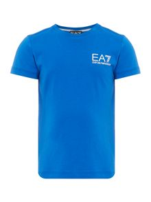 EA7 Junior Boys Small Logo Crew Tshirt