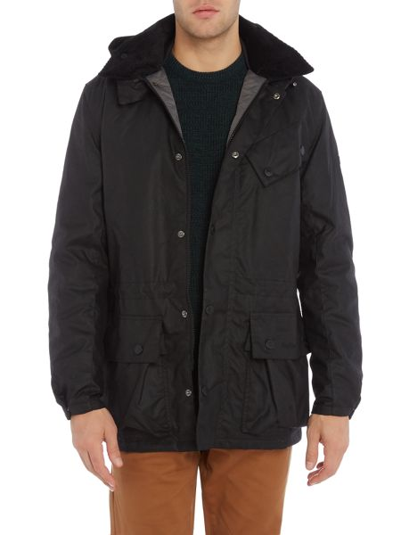 Barbour Chest pocket oynx wax parka jacket