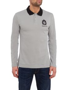 Versace Jeans Regular fit embroidered logo long sleeve polo