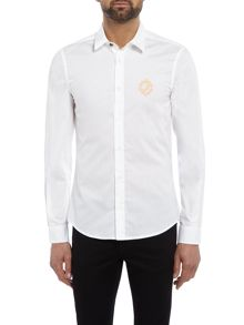 Versace Jeans Slim fit long-sleeve logo shirt
