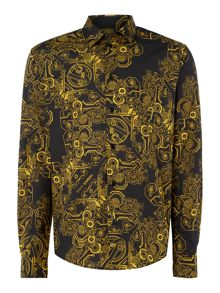Versace Jeans Regular fit all-over versace print shirt