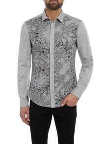 Versace Jeans Slim fit front panel print shirt