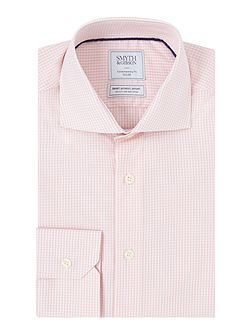Reg Fit Gingham Non Iron Poplin Shirt