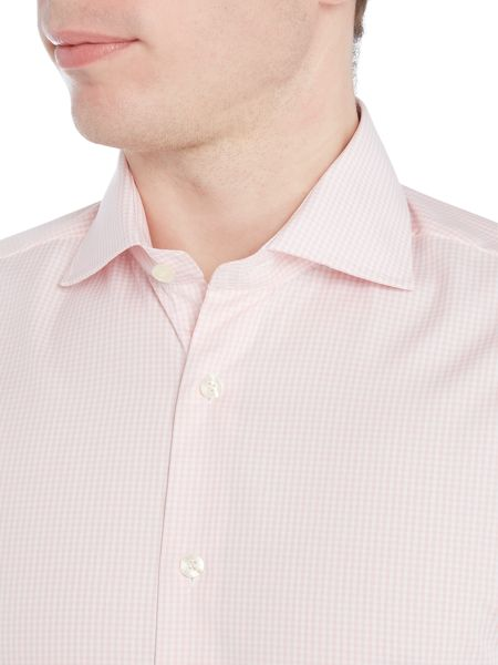 Smyth and Gibson Reg Fit Gingham Non Iron Poplin Shirt