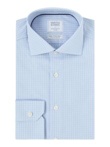 Smyth and Gibson Regular Fit Broken Check Non Iron Shirt