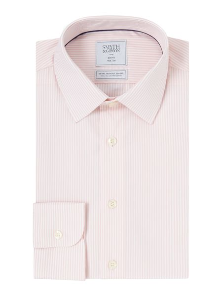 Smyth and Gibson Slim Fit Bengal Stripe Non Iron Shirt