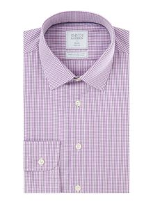 Smyth and Gibson Slim Fit Gingham Non Iron Poplin Shirt