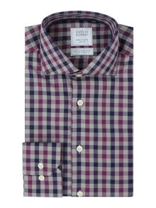 Smyth and Gibson Reg Fit Herringbone Check Non Iron Shirt