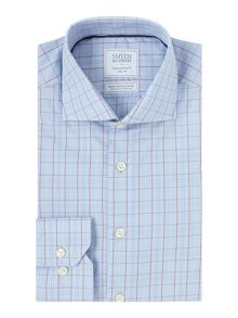 Smyth and Gibson Regular Fit Classic Check Non Iron Shirt