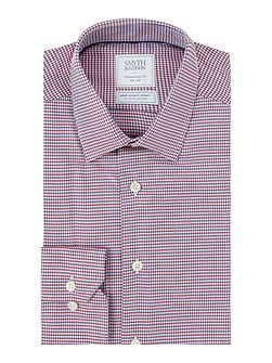 Reg Fit Houndstooth Twill Non Iron Shirt