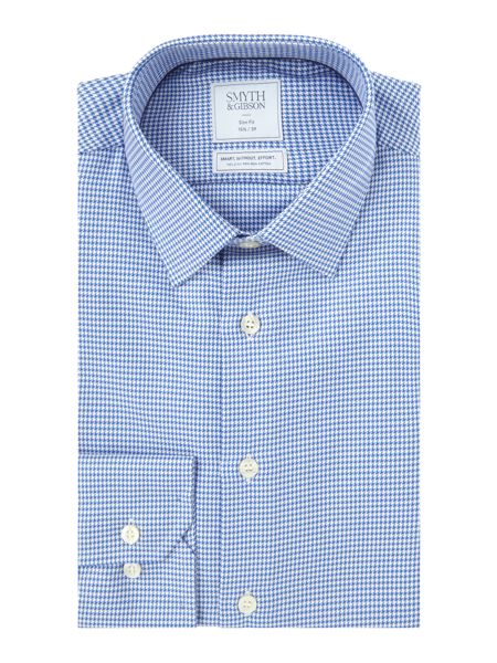 Smyth and Gibson Slim Fit Houndstooth Non Iron Shirt