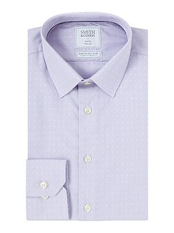 Slim Fit Dobby Poplin Non Iron Shirt