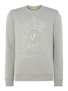 Versace Jeans Embroidered VJ logo crew neck sweat top