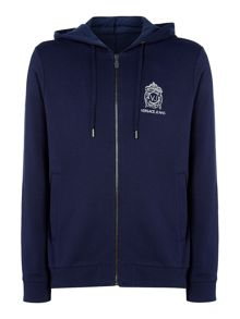 Versace Zip-up logo sweat hoodie