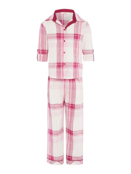 Minijammies Girls Brushed Check PJ Set
