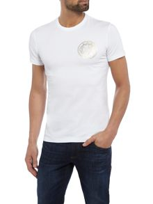 Versace Jeans Super Slim metallic logo crew neck t-shirt