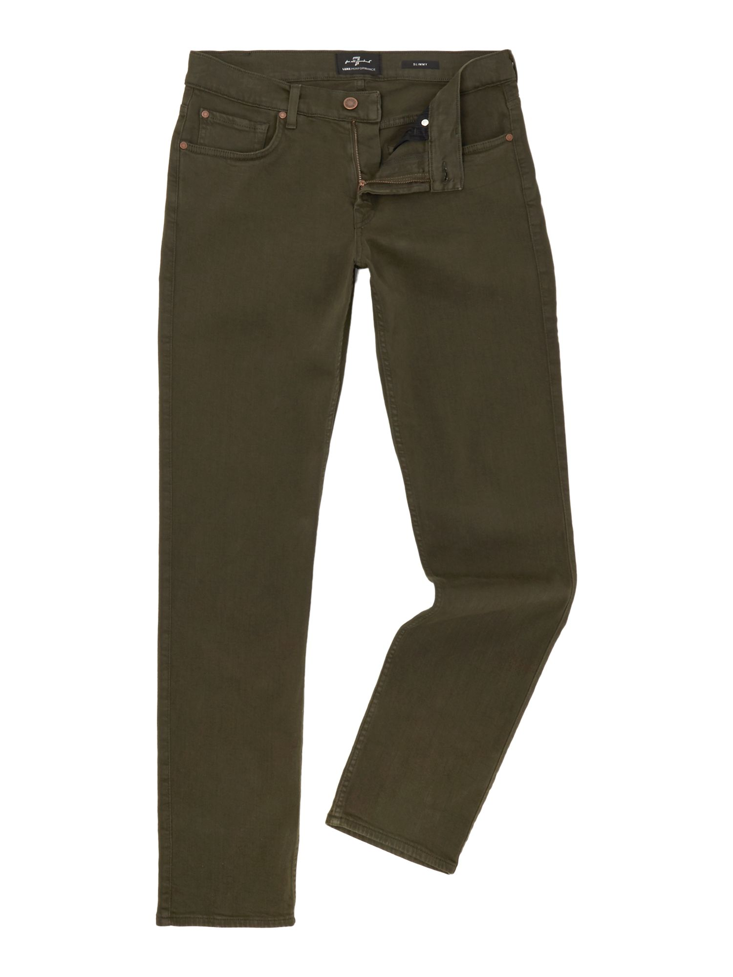 Mens 7 For All Mankind Slimmy Slim Fit Luxe Performance Colour Jeans Khaki