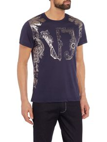 Versace Jeans Regular fit foil border print t-shirt