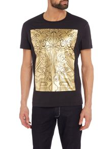 Versace Jeans Regular fit metallic block printed t-shirt