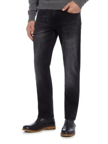7 For All Mankind Slimmy Slim Fit Luxe Huntley Washed Black Jeans