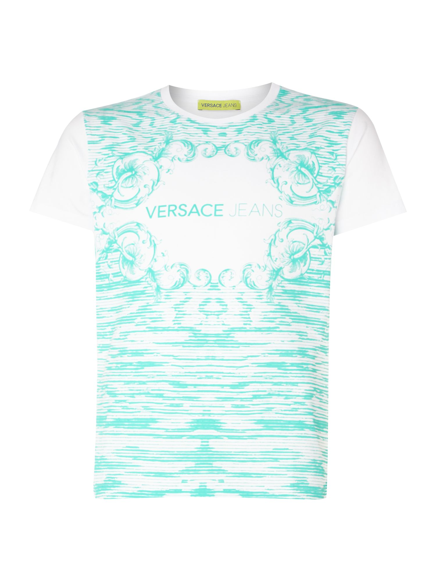 Versace Jeans Men's Versace Jeans Slim fit all-over printed t-shirt, White