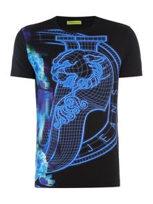 Versace Jeans Super slim luminous VJ print t-shirt