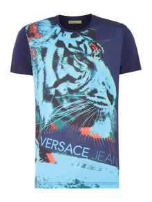 Versace Jeans Regular fit large tiger print t-shirt