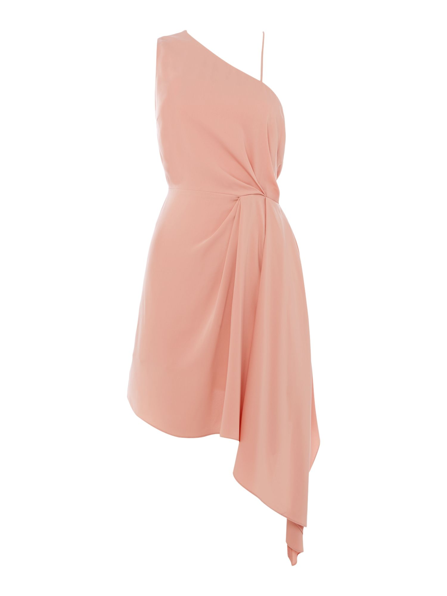 Keepsake One shoulder mini dress, Rose